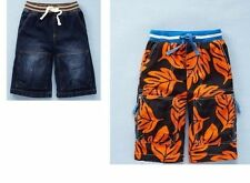 NEW Mini Boden RIB WAIST drawstring pull-on/up bermuda long SHORTS BOYS 5/5T 6