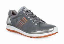 ECCO 2017 Mens Biom Hybrid 2 Dark Shadow/Orange Waterproof Leather Golf Shoes