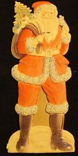 Vintage Paper Santa Christmas Decoration Made in Germany 10 Inches High 4 Wide