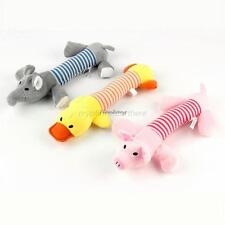 Cute Pet Dog Puppy Chew Toys Squeaker Squeaky Plush Sound Pig Elephant Duck Ball