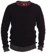 New Mens Kingsize Big Tall Crew Neck Chunky Cable Knit Jumper