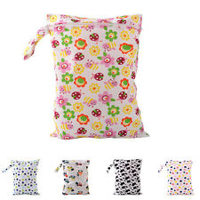 Baby Protable Nappy Washable Nappy Wet Dry Cloth Zipper Waterproof Diaper Bag HU