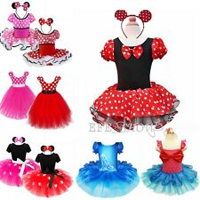 Cute Kid Baby Girls Minnie Mouse Christmas Costume Fancy Dress Party New Outfit