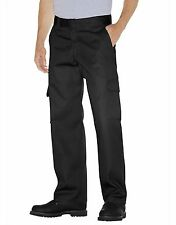 Dickies WP592 Relaxed Straight Leg Cargo Work Pants, Black, *Free US Shipping*