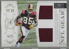 2011 Playoff National Treasures NFL Gear Combos 23 Leonard Hankerson Rookie Card