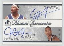 2003-04 SP Signature Edition AA-MJ Corey Maggette Dahntay Jones Auto Rookie Card