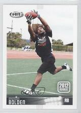 2012 SAGE Hit #144 Brandon Bolden New England Patriots Rookie Football Card