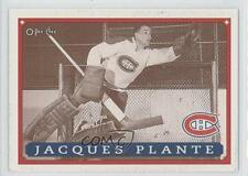1993-94 O-Pee-Chee Montreal Canadiens Hockey Fest #40 Jacques Plante Card