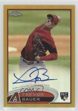 2012 Topps Chrome Rookie Autograph Gold Refractor #TB Trevor Bauer Auto Card