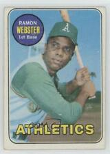 1969 Topps #618 Ramon Webster Oakland Athletics Baseball Card