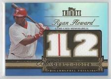 2012 Topps Tribute Debut Digits Relic Blue Encased #DD-RH Ryan Howard Card