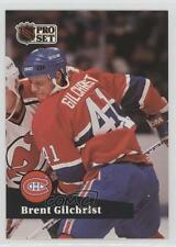 1991-92 Pro Set French #414 Brent Gilchrist Montreal Canadiens Hockey Card