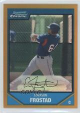 2007 Bowman Chrome Prospects Gold Refractor #BC215 Emerson Frostad Texas Rangers