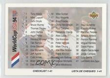 1993 Upper Deck World Cup 94 Preview English/Spanish #99 Checklist Soccer Card