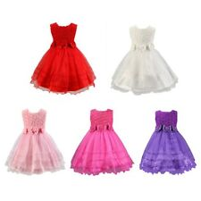 Girls Kids Baby Princess Party Pageant Wedding Tulle Tutu Flower Dress 2-8Y