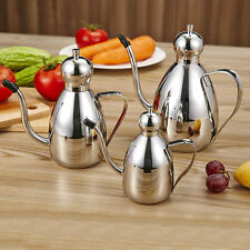 Thickened Stainless Steel  Oilcan Olive Oil Storage Bottle Kitchen Tool 3 Sizes