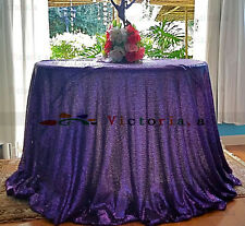 Factory Prices Many Color 120'' Round Sequin Tablecloth Cover For Wedding