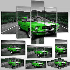 Canvas picture Canwas Wall Tattoo Art Print Motorization Car green Ford Mustang