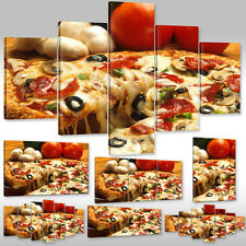 Canvas picture Wall Tattoo Art Print for the kitchen delicious Pizza from Italy