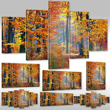 Canvas picture Wall Tattoo Art Print Stretcher frame Landscape autumn Trees