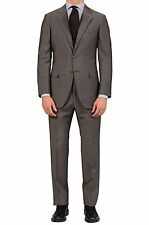 Sartoria PARTENOPEA For SULKA Hand Made Gray Striped Wool-Mohair Suit NEW