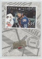 1997 Donruss Priority Stamps #PEFO Peter Forsberg Colorado Avalanche Hockey Card