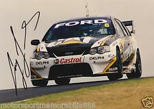 Craig Lowndes SIGNED 2005 6x4 or 8x12 photo V8 Supercars FORD CATERPILLAR