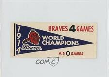 1961 Fleer Baseball Greats World Series Pennant Decals #1914 Boston Braves Team