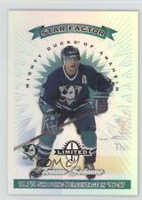 1997 Donruss Limited Exposure 11 Teemu Selanne Anaheim Ducks (Mighty of Anaheim)