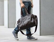 NEW Black Leather Briefcase /Laptop Carry On Shoulder Bag Mens Tote Luggage