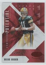 2008 Leaf Certified Materials Potential Red #CP-13 Brian Brohm Green Bay Packers