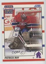 1990-91 Score American #312 Patrick Roy Montreal Canadiens Hockey Card