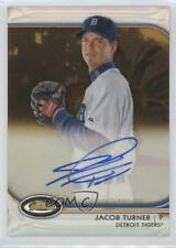 2012 Topps Finest Autographed Rookies Gold Refractor #AR-JT Jacob Turner Auto