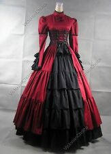 Victorian Gothic Dress Gown Steampunk Christmas Corset Costume V 068 XXL