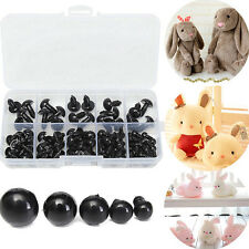 100pc 6-10mm Black Plastic Safety Plush Toys Eyes Bear Doll Accessories