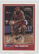 2001-02 Fleer Tradition #40 Tina Thompson Houston Comets (WNBA) Basketball Card