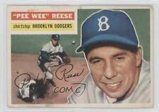 1956 Topps #260 Pee Wee Reese Brooklyn Dodgers Baseball Card
