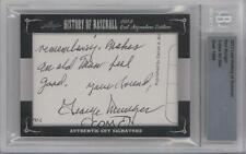 2012 Leaf History of Baseball Cut Signature Edition #REMU Red Munger Auto Card