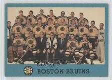 1962-63 Topps #22 Boston Bruins Team Hockey Card