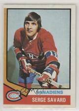 1974-75 Topps #53 Serge Savard Montreal Canadiens Hockey Card