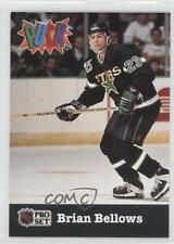 1991-92 Pro Set Puck #13 Brian Bellows Minnesota North Stars Hockey Card