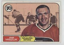 1968-69 Topps #93 John Miszuk Philadelphia Flyers RC Rookie Hockey Card
