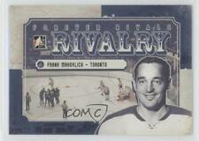 2012 In the Game Forever Rivals Series Rivalry RI-03 Frank Mahovlich Hockey Card