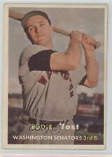 1957 Topps #177 Eddie Yost Washington Senators Baseball Card