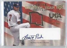 2008 Upper Deck #USJR-MP Matthew Purke Team USA (National Team) Matt Auto Card