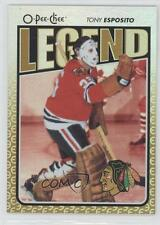 2009-10 O-Pee-Chee Foil Rainbow 599 Tony Esposito Chicago Blackhawks Hockey Card
