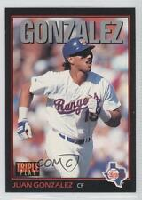1993 Triple Play #221 Juan Gonzalez Texas Rangers Baseball Card