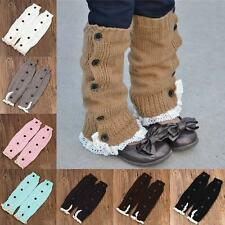 Cute Baby Infant Girl Warm Tight Crochet Lace Leg Warmers Toddler Kid Boot Cover