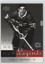 2001-02 Upper Deck Legends #32 Serge Savard Montreal Canadiens Hockey Card
