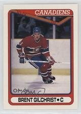 1990-91 O-Pee-Chee #422 Brent Gilchrist Montreal Canadiens RC Rookie Hockey Card